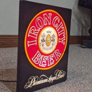 Iron City lighted sign